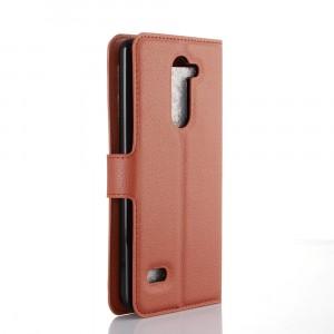 Чехол портмоне подставка с защелкой для LG Ray Коричневый