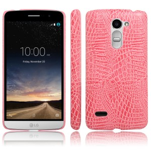 Дизайнерский чехол накладка текстура Крокодил для LG Ray Розовый