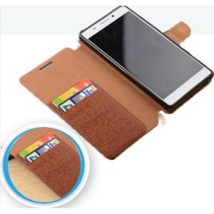 Чехол подставка на силиконовой основе текстура Дерево с отделением для карт для ASUS ZenFone Max