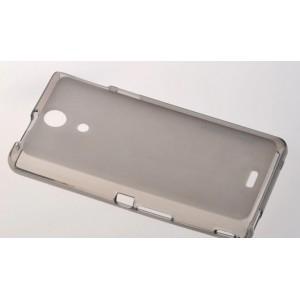 Силиконовый полупрозрачный чехол для Sony Xperia ZR Черный