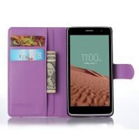 Чехол портмоне подставка с защелкой для LG Max Фиолетовый