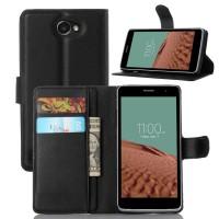 Чехол портмоне подставка с защелкой для LG Max Черный