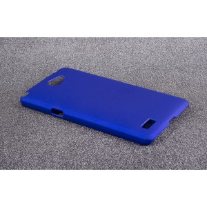 Пластиковый матовый непрозрачный чехол для LG Max