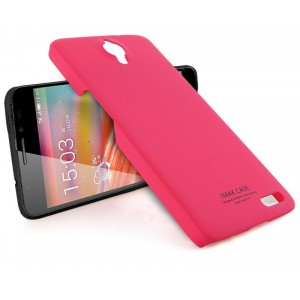 Пластиковый чехол серия Metallic для Alcatel One Touch Idol X Пурпурный