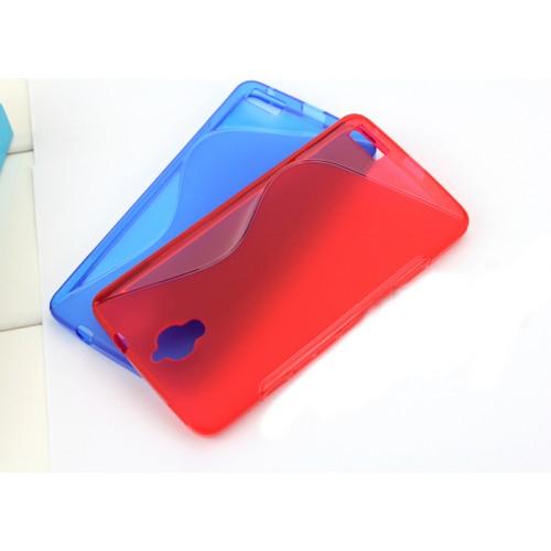 Силиконовый чехол S для Alcatel One Touch Idol X Красный