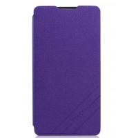 Текстурный чехол флип для Alcatel One Touch Idol X Фиолетовый