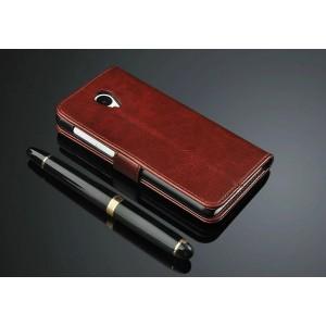 Глянцевый чехол портмоне подставка с защелкой для Meizu M2 Mini