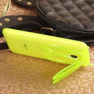 Силиконовый дизайнерский фигурный чехол Заяц со складными ушами для Meizu M2 Mini