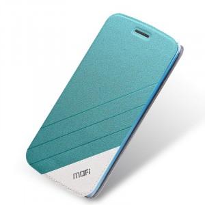 Текстурный чехол флип подставка на силиконовой основе для Meizu M2 Mini Голубой