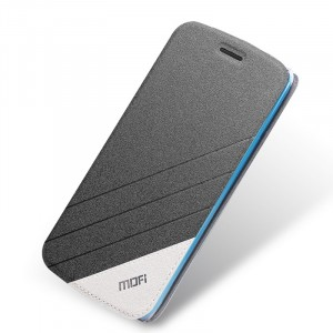 Текстурный чехол флип подставка на силиконовой основе для Meizu M2 Mini Черный
