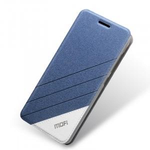 Текстурный чехол флип подставка на силиконовой основе для Meizu M2 Mini Синий