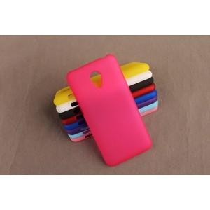Пластиковый матовый непрозрачный чехол для Meizu M2 Mini Пурпурный