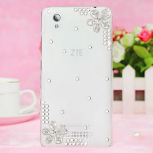 Дизайнерский силиконовый полупрозрачный чехол с аппликацией ручной работы для ZTE Blade X3