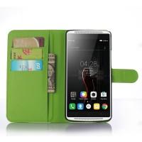 Чехол портмоне подставка с защелкой для Lenovo Vibe X3 Зеленый