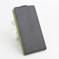 Текстурный чехол вертикальная книжка на силиконовой основе с магнитной застежкой для Lenovo Vibe X3 Черный