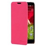 Чехол флип подставка текстурный на пластиковой основе для LG Optimus G2 mini (d620 d618) Пурпурный