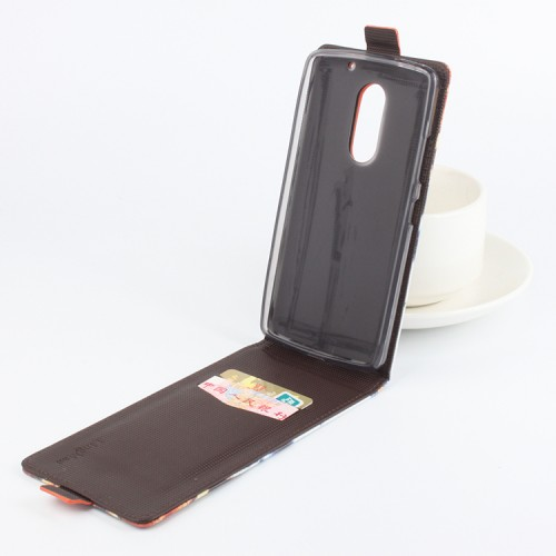 Чехол вертикальная книжка на силиконовой основе с магнитной застежкой и полноповерхностным принтом с отделением для карт для Lenovo Vibe X3