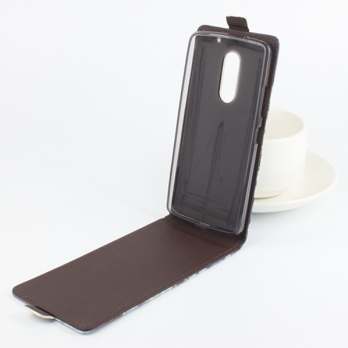 Чехол вертикальная книжка на силиконовой основе с магнитной застежкой и полноповерхностным принтом для Lenovo Vibe X3