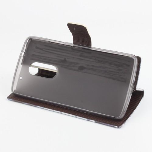 Дизайнерский чехол портмоне подставка с полноповерхностным принтом и застежкой с отделением для карт для Lenovo Vibe X3