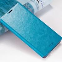 Водоотталкивающий чехол флип подставка на силиконовой основе для Lenovo Vibe X3 Голубой