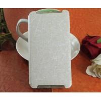 Текстурный чехол флип подставка на пластиковой основе для Lenovo Vibe X3 Белый