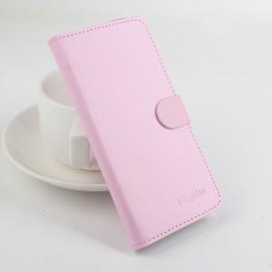 Чехол портмоне подставка с защелкой на силиконовой основе для Alcatel One Touch Idol 3 (5.5) Розовый