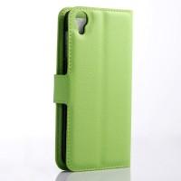 Чехол портмоне подставка с защелкой для Alcatel One Touch Idol 3 (5.5) Зеленый