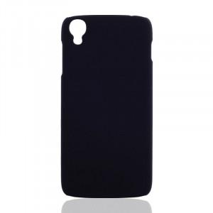 Пластиковый матовый непрозрачный чехол для Alcatel One Touch Idol 3 (5.5) Черный