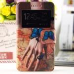 Дизайнерский принтованный чехол флип подставка на силиконовой основе с магнитной застежкой с окном вызова для Alcatel One Touch Idol 3 (5.5)
