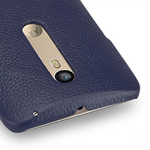 Кожаный чехол накладка (нат. кожа) для Lenovo Moto X Style