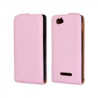 Чехол книжка вертикальная для Sony Xperia M Розовый