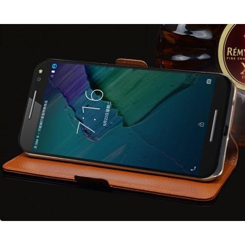 Кожаный чехол портмоне (нат. кожа крокодила) для Lenovo Moto X Style