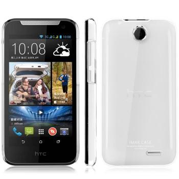 Пластиковый транспарентный олеофобный премиум чехол для HTC Desire 310