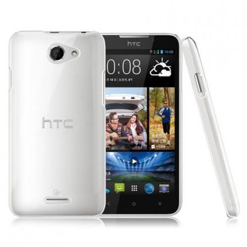 Пластиковый транспарентный олеофобный премиум чехол для HTC Desire 516