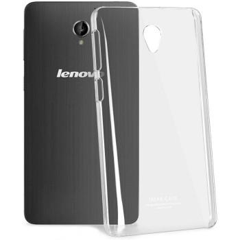 Пластиковый транспарентный олеофобный премиум чехол для Lenovo S860
