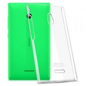 Пластиковый транспарентный олеофобный премиум чехол для Nokia X2