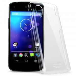 Пластиковый транспарентный олеофобный премиум чехол для Nexus 5