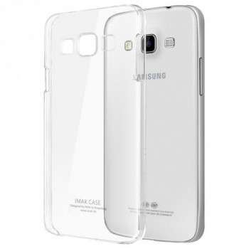 Пластиковый транспарентный олеофобный премиум чехол для Samsung Galaxy A7