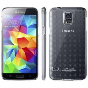 Силиконовый глянцевый транспарентный чехол накладка для Samsung Galaxy S5