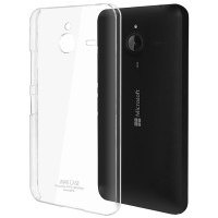 Пластиковый транспарентный олеофобный премиум чехол для Microsoft Lumia 640 XL