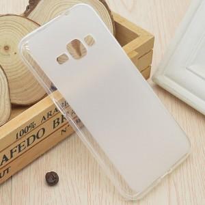 Силиконовый матовый полупрозрачный чехол для Samsung Galaxy J1 (2016) Белый