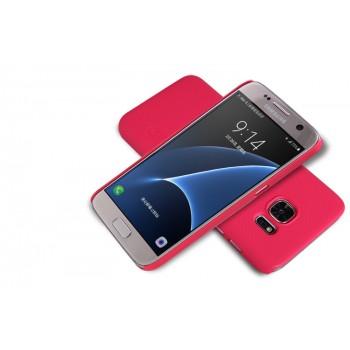 Пластиковый матовый нескользящий премиум чехол для Samsung Galaxy S7