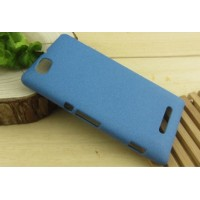Пластиковый антискретч чехол для Sony Xperia M Синий