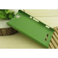 Пластиковый антискретч чехол для Sony Xperia M Зеленый