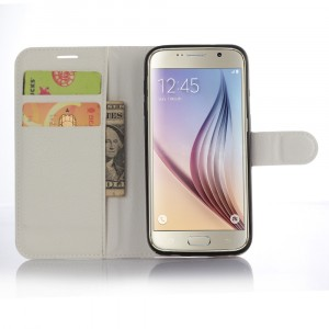 Чехол портмоне подставка с защелкой для Samsung Galaxy S7 Белый