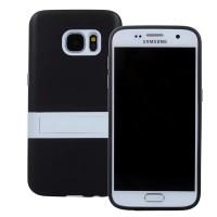Двухкомпонентный силиконовый чехол с пластиковым бампером-подставкой для Samsung Galaxy S7 Черный