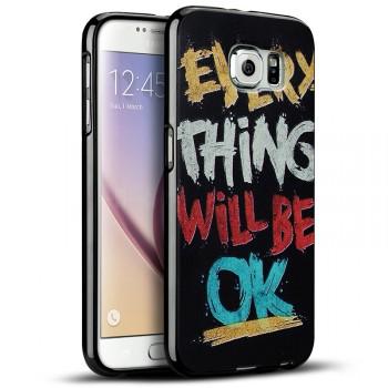 Силиконовый матовый дизайнерский чехол с эксклюзивной серией принтов для Samsung Galaxy S7