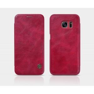 Чехол флип на пластиковой основе с отделением для карты текстура Кожа для Samsung Galaxy S7