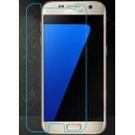 Ультратонкое износоустойчивое сколостойкое олеофобное защитное стекло-пленка на плоскую часть экрана для Samsung Galaxy S7