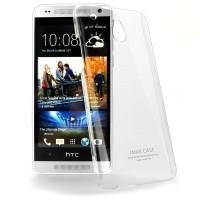 Пластиковый транспарентный олеофобный премиум чехол для HTC One Mini